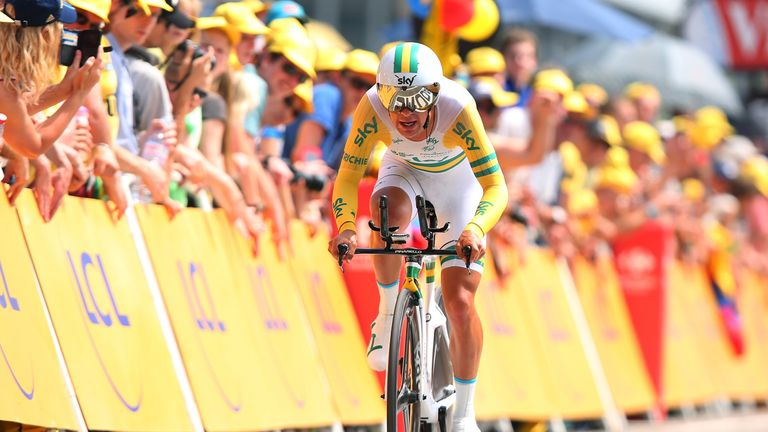 Richie Porte described the hot conditions as 'horrible'