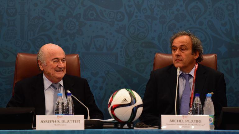 FIFA President Joseph S. Blatter and UEFA President Michel Platini