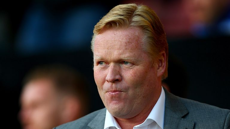 Ronald Koeman manager of Southampton looks on from the touchline