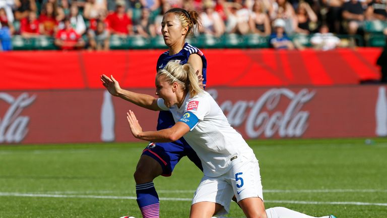 Japan's Yuki Ogimi tripped Houghton to win England a penalty