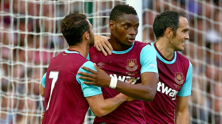 Diafra Sakho: Celebrates his opening goal