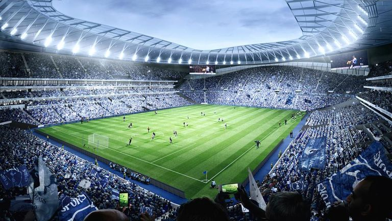 The stadium will feature the largest single tier stand in the United Kingdom