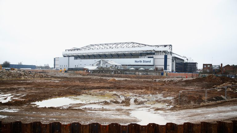 Building is well underway at White Hart Lane for Spurs' new stadium