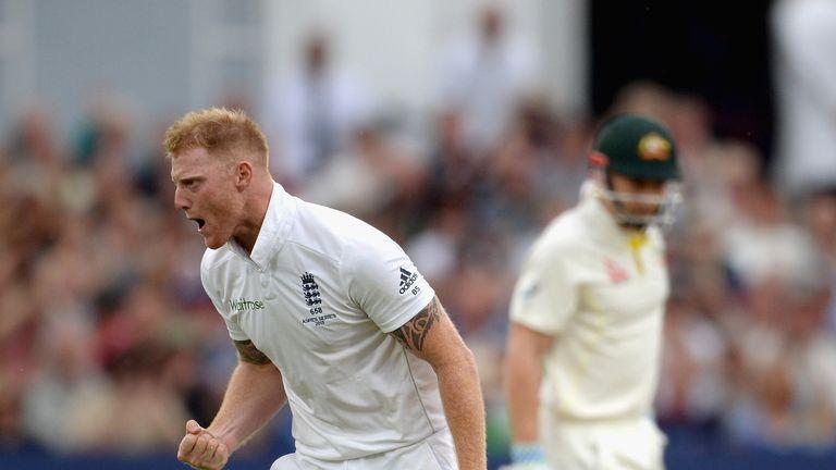 Ben Stokes celebrates during his 6-37 in the Trent Bridge Ashes Test