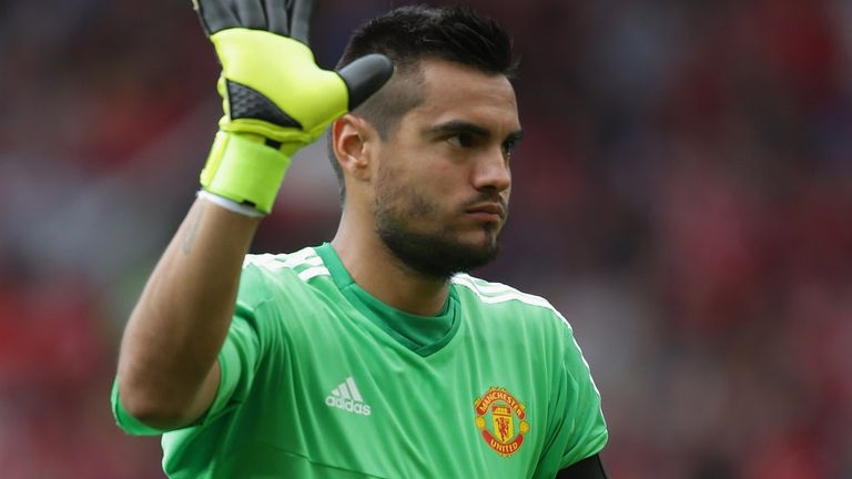 Sergio Romero is facing a battle for the Manchester United No 1 shirt