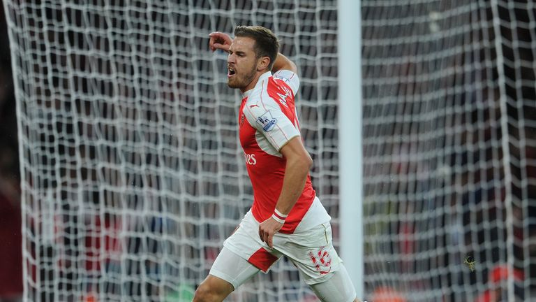 Aaron Ramsey saw a goal against Liverpool disallowed for offside