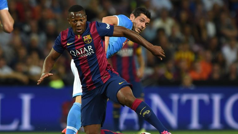 Barcelona's Adama Traore has held discussions with Stoke City