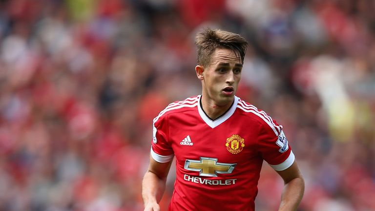 Adnan Januzaj of Manchester United in action during the Barclays Premier League match between Manchester United and Newca