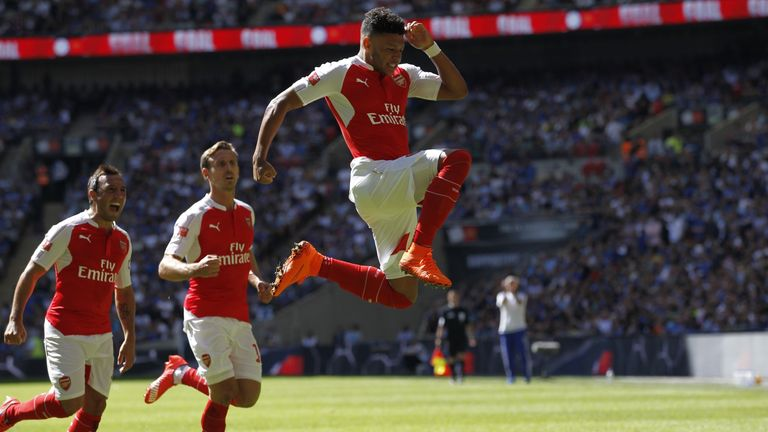 Alex Oxlade-Chamberlain (right) scored the only goal of the game