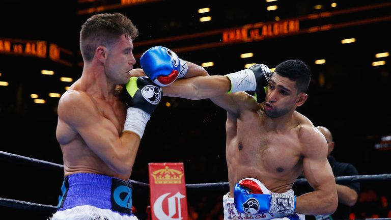 Amir Khan (right) last fought in May 2015 with a win over Chris Algieri
