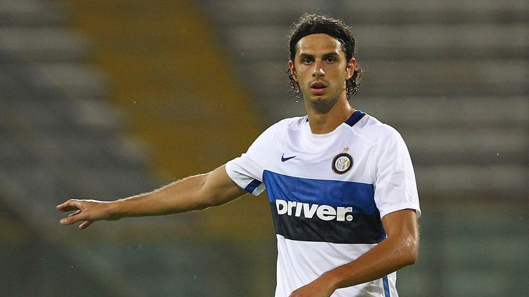 PARMA, ITALY - AUGUST 08:  Andrea Ranocchia of FC Internazionale Milano gestures during the pre-season friendly match between FC Internazionale and Athleti
