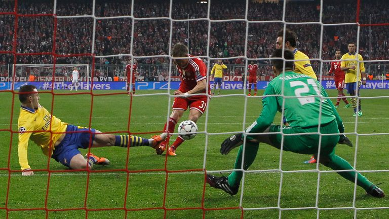 Bayern knocked Arsenal out of the Champions League in 2013 and 2014