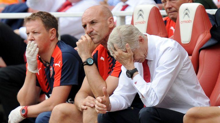 Arsene Wenger reacts, Arsenal v West Ham, Premier League, Emirates Stadium