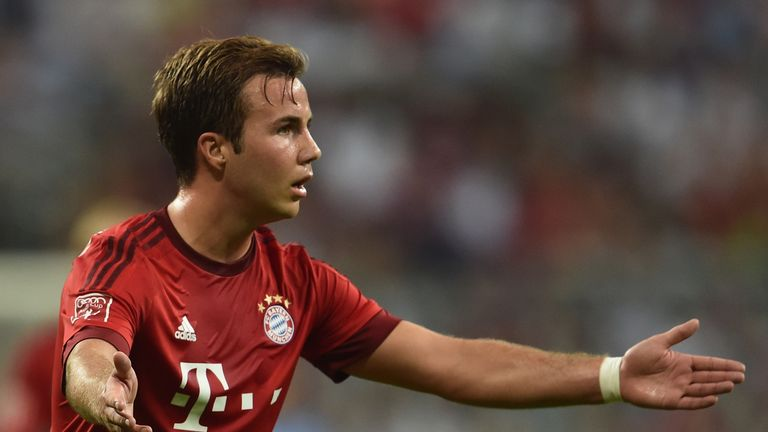 Mario Goetze of FC Bayern Muenchen reacts during the Audi Cup 2015 match between FC Bayern Muenchen and AC Milan at Allianz Arena on August 4