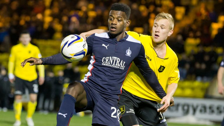 Botti Biabi (L) is the third Falkirk player to join Swansea in 18 months