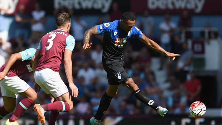 Callum Wilson fires Bournemouth into a 2-0 lead against West Ham