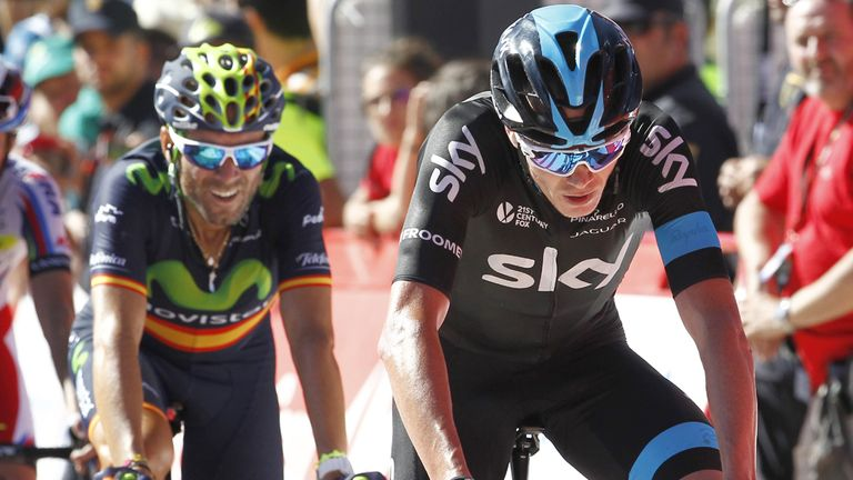 Alejandro Valverde (left) and Chris Froome (right) are among the contenders for overall victory