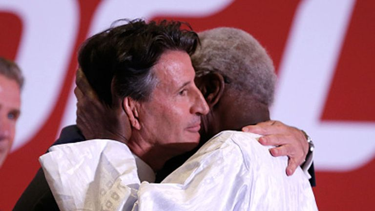 Lord Sebastian Coe succeeded Diack, who was president for 16 years