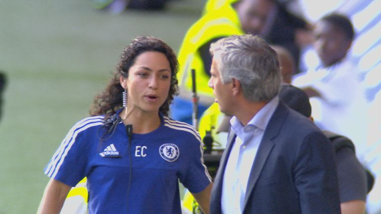 Eva Carneiro and Jose Mourinho clashed on the touchline after Eden Hazard received treatment against Swansea