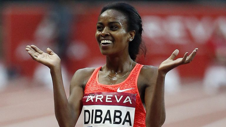 Genzebe Dibaba holds five middle-distance world records