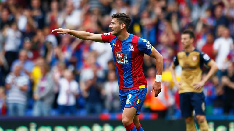 Joel Ward of Crystal Palace celebrates
