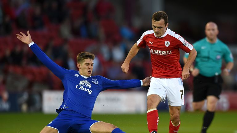Everton selected John Stones for their Capital One Cup second-round tie at Barnsley