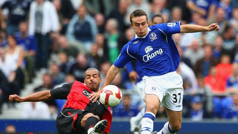 Baxter was Everton's youngest ever first-team player at the age of 16 years and 191 days against Blackburn in August 2008