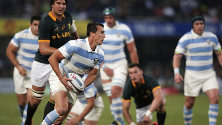 Juan Imhoff was the hat-trick hero for Argentina