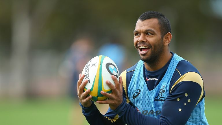 Kurtley Beale during a Wallabies training session at Ballymore Stadium