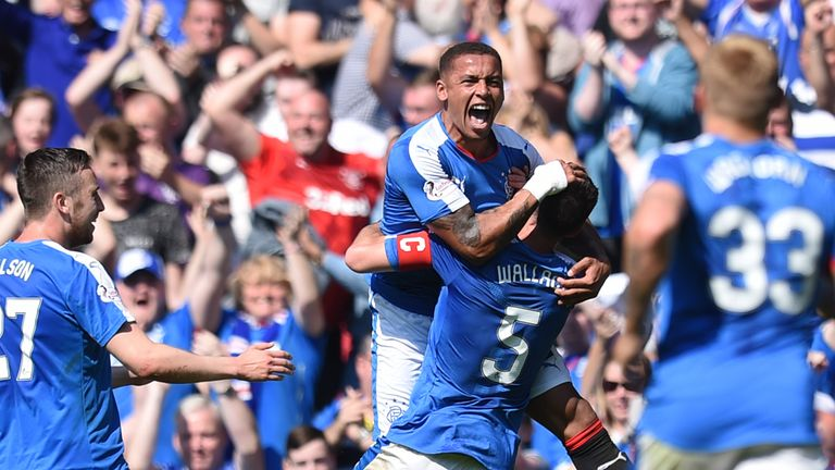 James Tavernier and Rangers celebrate