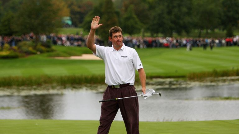 Westwood salutes the crowd after winning the British Masters in 2007