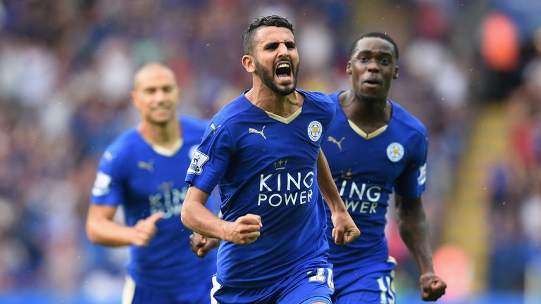 Riyad Mahrez continued his fine scoring run for Leicester