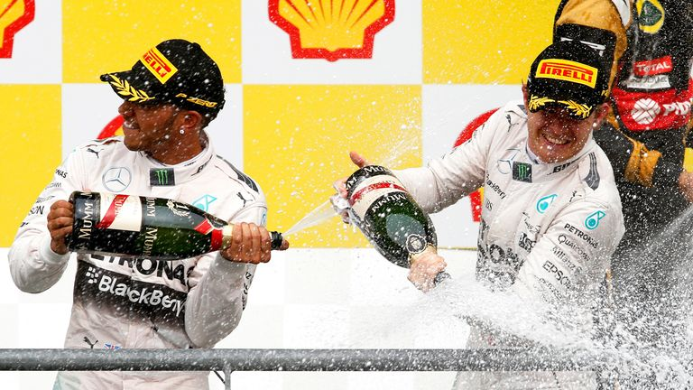 The Mercedes drivers picked up yet another one-two finish at Spa