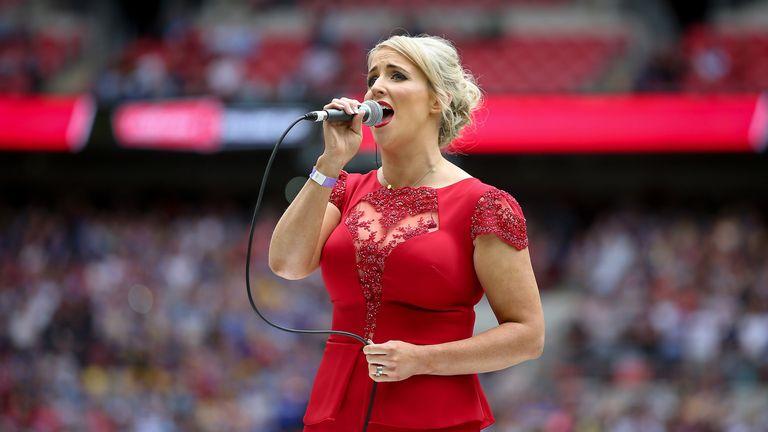 Lizzie Jones sings Abide With Me at Wembley last year