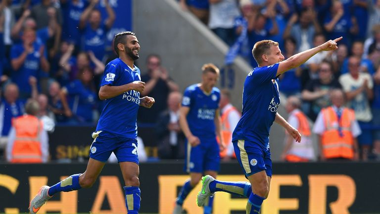 Where it all began: Leicester beat Sunderland 4-2 on the opening weekend