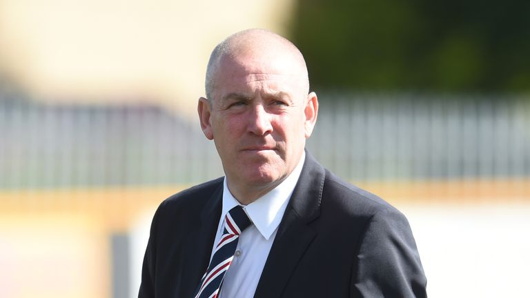 Rangers Manager Mark Warburton before the Alloa game.