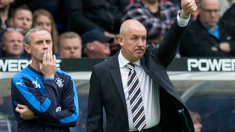 Rangers manager Mark Warburton during the Scottish Communities League Cup match at Ibrox Stadium, Glasgow.