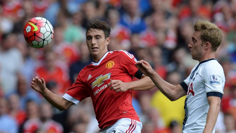Matteo Darmian (left) impressed on his Manchester United debut
