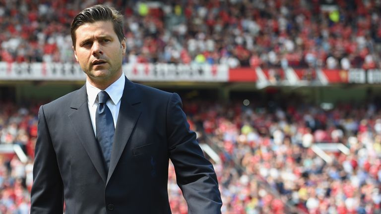 Tottenham manager Mauricio Pochettino looks on