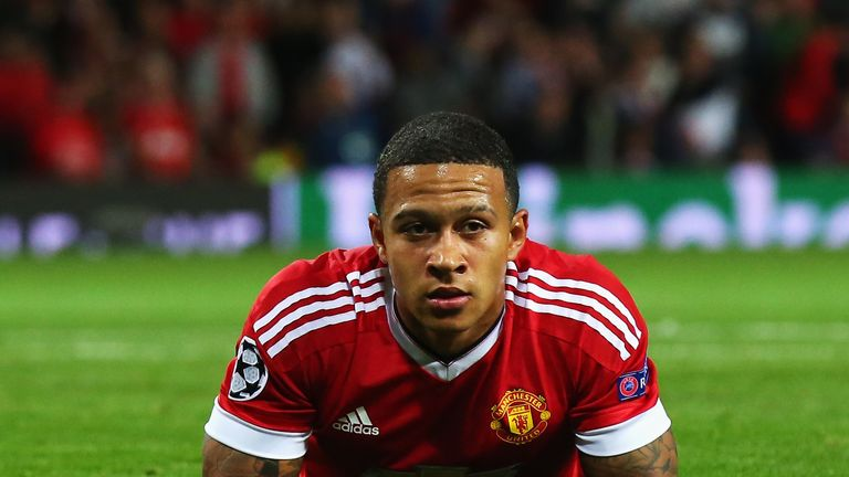 Memphis Depay 'down but not out' says his manager Louis van Gaal