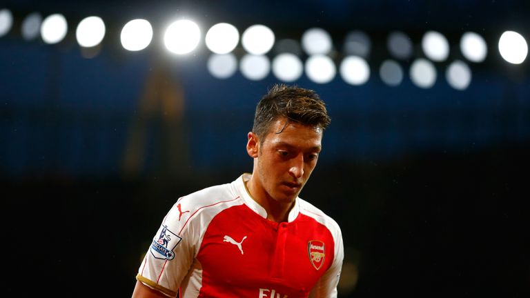 Mesut Ozil during Arsenal's match against Liverpool