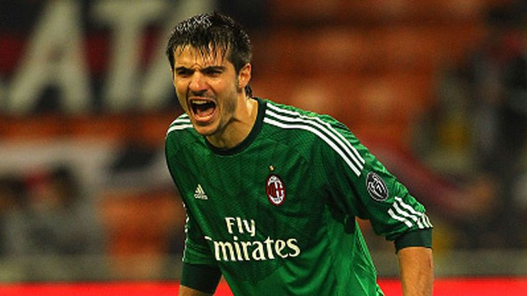 Michael Agazzi is yet to make a Serie A appearance for AC Milan
