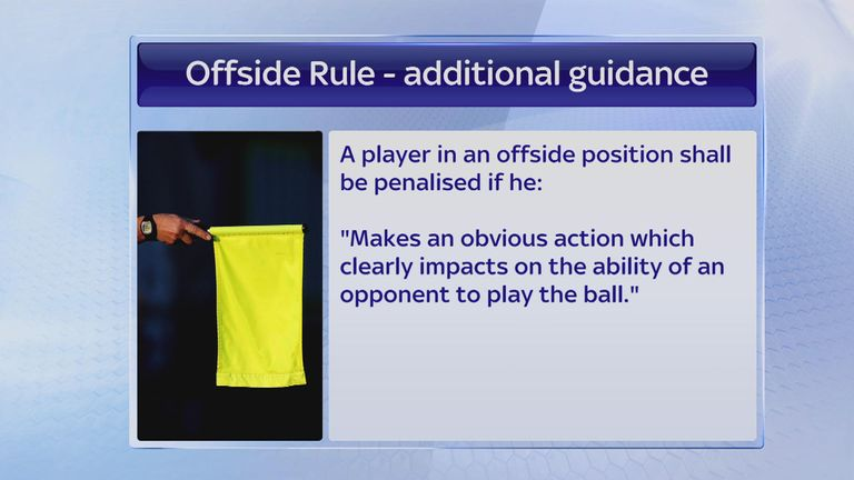 The new offside rule takes effect from the start of the 2015/16 season