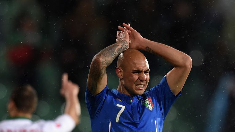 SOFIA, BULGARIA - MARCH 28:  Simone Zaza of Italy during the Euro 2016 Qualifier match between Bulgaria and Italy at Vasil Levski National Stadium on March
