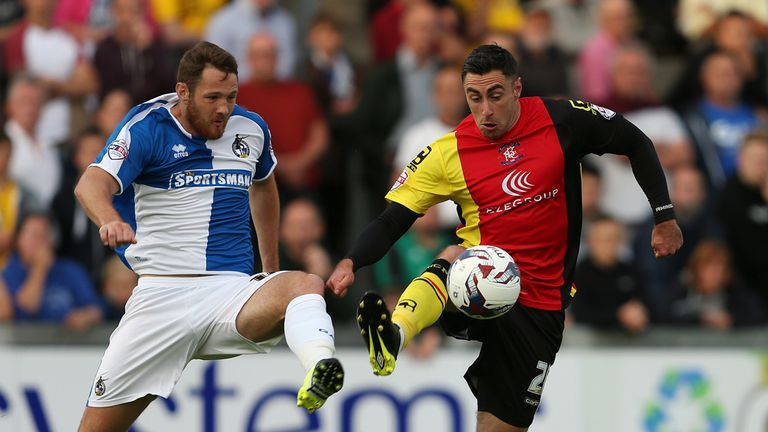 Lee Novak (right) pictured in action for Birmingham