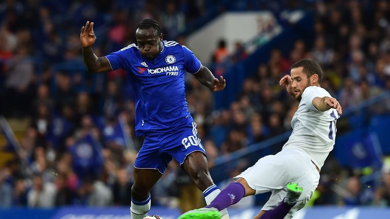 Victor Moses (left) in action for Chelsea during pre-season