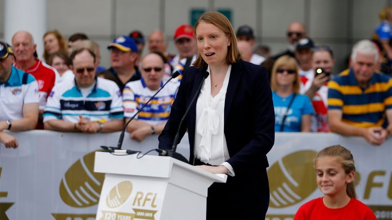 The statue was unveiled by Sports Minister Tracey Crouch