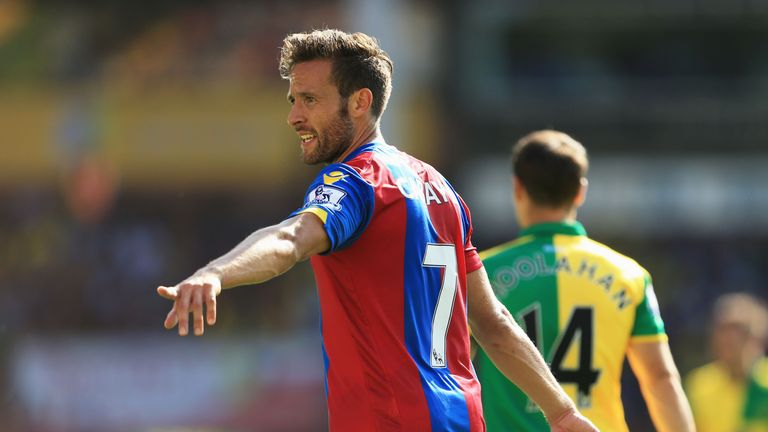 Yohan Cabaye scored on his return to the Premier League for Crystal Palace.