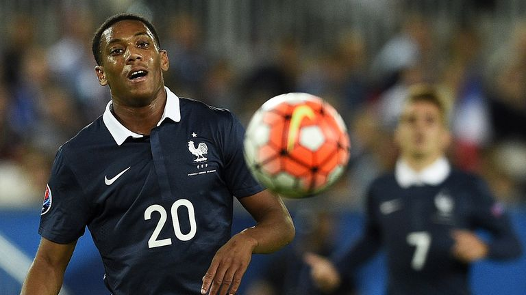 Anthony Martial of Manchester United played the final  14 minutes of France's win over Serbia