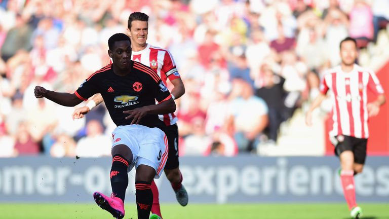 Anthony Martial gives Manchester United the lead